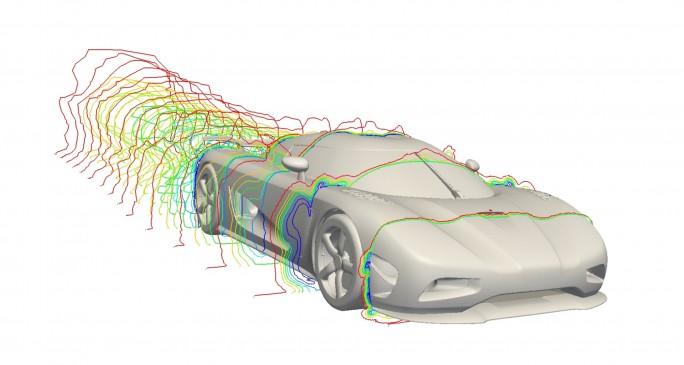 Autobauer Koenigsegg simuliert über den Fortissimo-Marktplatz die Aerodynamik der eigenen Fahrzeuge. (Bild: Fortissimo)