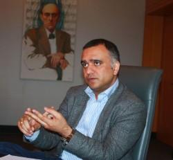 """Nutanix-CEO Dheeraj Pandey auf der Kundenkonferenz .NEXT im November in Wien: """"manchmal muss man das Establishment aufrütteln"""" (Bild: ZDNet.de)"""