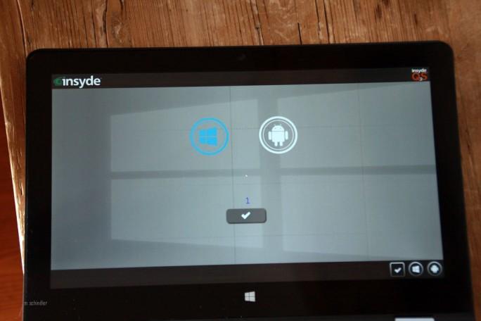 The Weapon of Choice. Doch anders als man hier meinen möchte, ist es nicht möglich, beim Booten zwischen Windows 10 und Android zu wechseln. (Bild: M. Schindler)