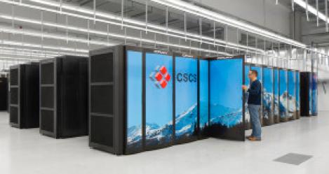 Der Supercomputer Pit Daint am Schweizer Hochleistungsrechenzentrum CSCS. (Bild: Cray)