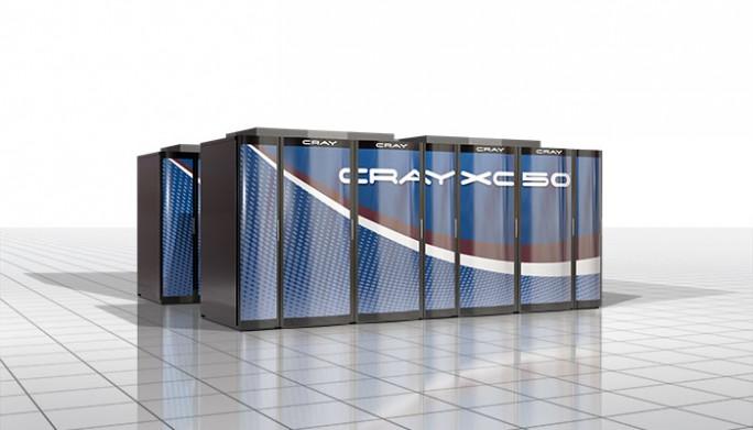 Der neue Supercomputer Cray XC 50 soll in einem Cabinet bis zu 1 Petaflop Leistung erbringen können. (Bild: Cray)