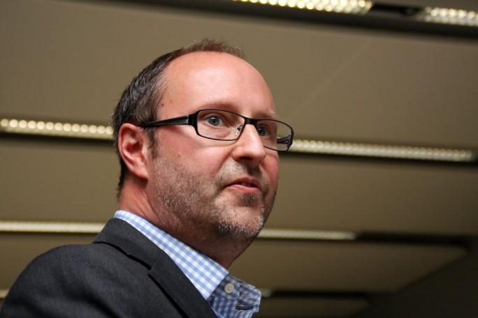 """Roger Schroth, Director International Strategy von Rackspace: Es gibt keinen größeren Managed Services Partners als Rackspace, der das in dieser Größenordnung anbieten kann."""" (Bild: M. Schindler)"""
