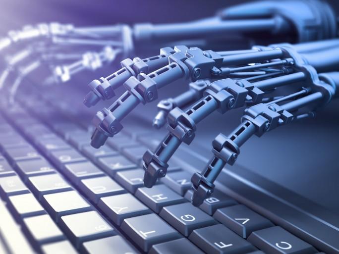 Roboter im Büro (Bild: Shutterstock.com/Mopic)