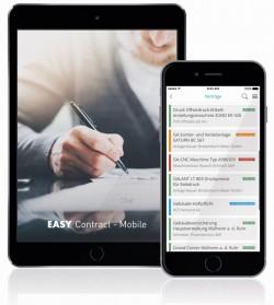 Mithilfe der App zu Easy Contract lässt sich das System auch mobil nutzen. (Screenshot: Easy Software)