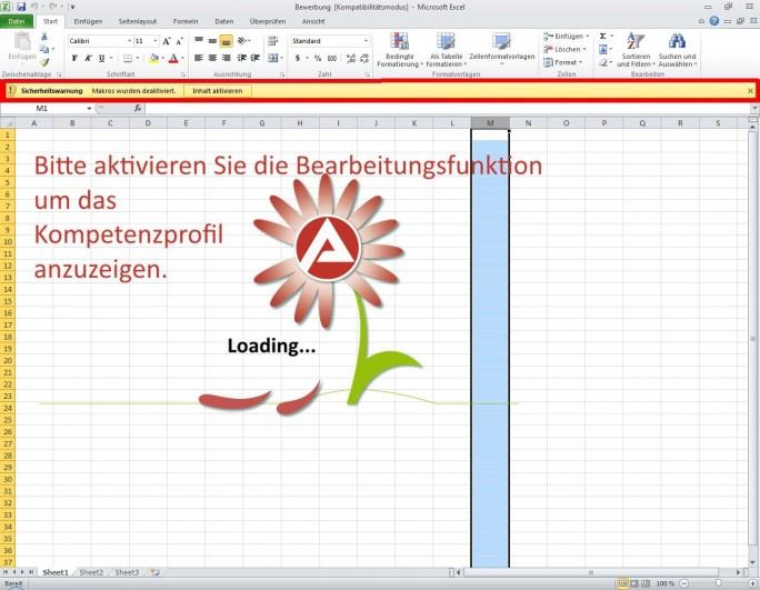 Wird der Aufforderung in der Excel-Arbeitsmappe, die Bearbeitungsfunktion zu aktivieren Folge geleistet, wird der Rechner infiziert. (Bild: CERT-Bund)