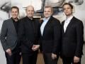 Vier gegen Google (von links): Frank Hoberg, Co-Founder und Executive Vice President Sales, Open-Xchange, Rafael Laguna, Co-Founder und CEO, Open-Xchange, Jean-Baptiste Piacentino, Deputy CEO, Qwant und Peer Heinlein, Inhaber und Geschäftsführer von Heinlein Support, dem Unternehmen, das ox.io hostet. (Bild: ox.io)