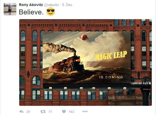 CEO Rony Albovitz bittet für Magic Leap um etwas mehr Geduld - hält aber grundsätzlich am Versprechen fest, bahnbrechend neue Technologie liefern zu wollen (Screenshot: silicon.de)