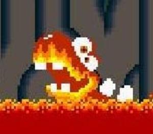 Blargg, ein Lava-Monster aus Super Mario, war auch der erste Code-Name des Game Music Emulator, (Bild: C. Evans)