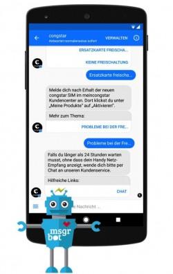 Der erste Servicebot für Facebook Messenger in Deutschland wurde von DSaF für Congstar entwickelt (Grafik: DSaF)