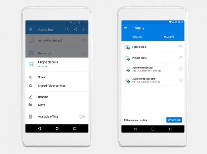 Offline-Ordner bei Dropbox für Android (Bild: Android)