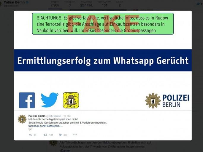 Ermittlungserfolg gegen Urheber von WhatsApp-Gerücht mit (Screenshot: silicon.de)