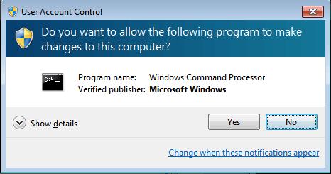 Spora kann die UAC von Windows nicht umgehen. Der Nutzer muss der 'Änderung' am Rechner zunächst zustimmen. (Bild: G-DATA)
