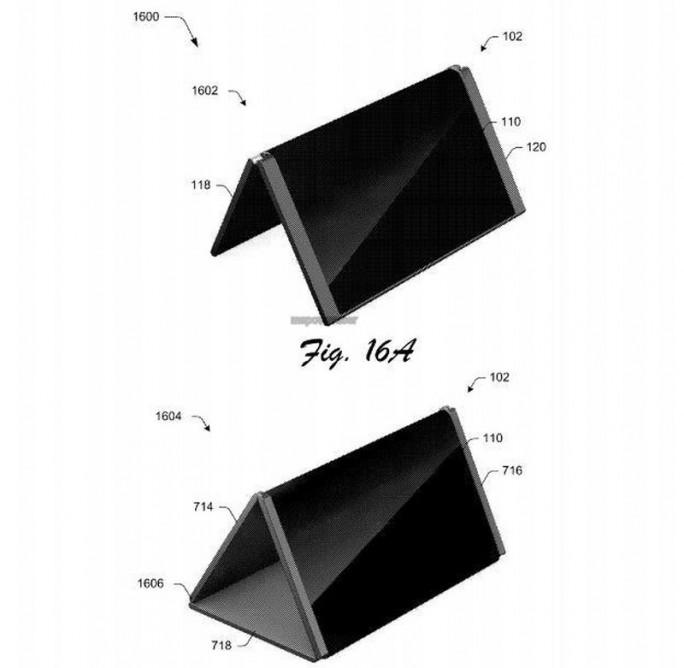 Ähnlich wie bereits verfügbare Tablets anderer Hersteller lässt sich das von Microsoft patentierte Konzept auch auf unterschiedliche Weise aufstellen. (Bild: Microsoft / USPTO)