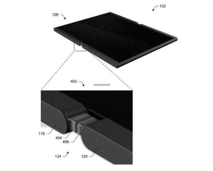 Patentantrag für ein faltbares Mobilgerät (Bild: Microsoft / USPTO)