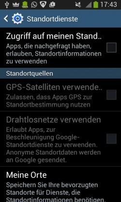Android Standortdienste ausschalten (Screenshot: silicon.de)
