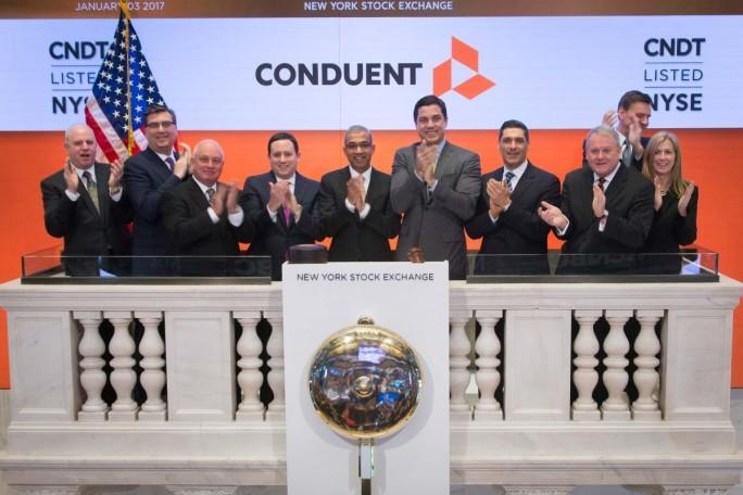 Auch die Aktie des BPO-Spezialisten Conduent ist nun an der NYSE notiert (Bild: Conduent).