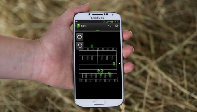 SmartBow auf dem Handy: Ein Landwirt kann damit Wohlbefinden und Paarungsbereitschaft seiner Tiere überwachen. (Bild: SmartBow)