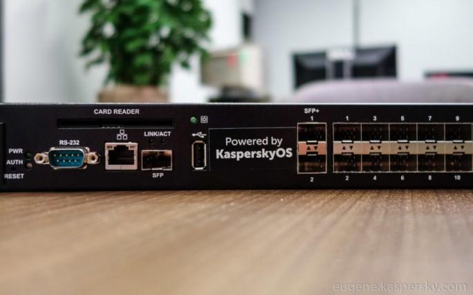 Die erste, im Herbst 2016 gezeigte offizielle Implementierung von KasperskyOS auf einem Layer-3-Switch. (Bild: Kaspersky Lab)