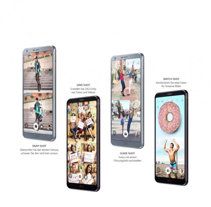 Die Square-Kamera des LG G6 bietet mehrere Features. (Bild: LG)