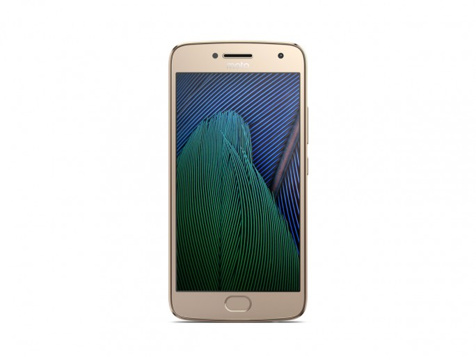 Moto G5 Plus in Fine Gold. (Bild: Lenovo)