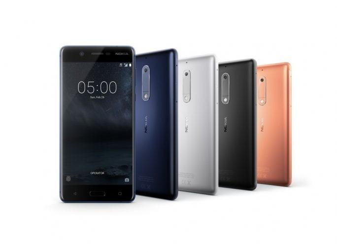 Das neue Nokia 5 mit Aluminium-Gehäuse. (Bild: HMD Global)