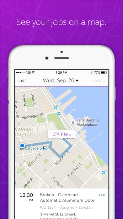 Die neue KI-basierte Lösung gibt es bereits als Mobile App Field Service Lightening, die mit neuen Algorithmen bei der Termin- und Routenplanung hilft. (Bild: Salesforce)