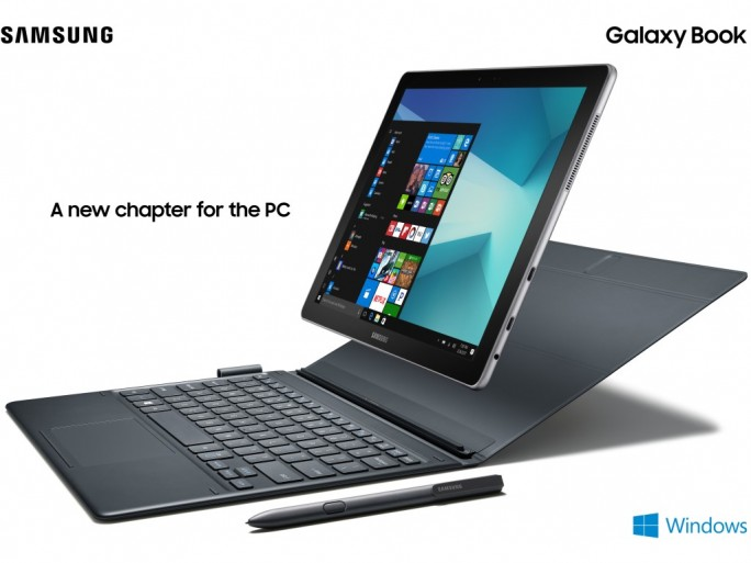 Das 2-in-1-Tablet Galaxy Book stattet Samsung mit Windows 10 aus. (Bild: Samsung)