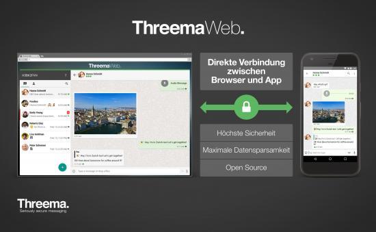 Der Krypto-Messenger Threema lässt sich nun auch im Browser auf dem Desktop nutzen (Bild: Threema)