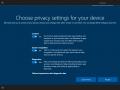 Windows 10 Creators Update Build 15019 mit den euen Datenschutzeinstellungen während der Ersteinrichtung des Betriebssystems. (Bild: Microsoft)