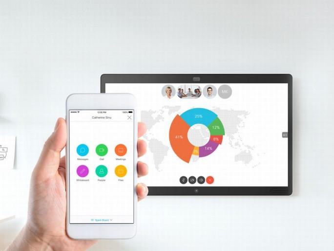 Sparkboard und Spark App (Bild: Cisco)