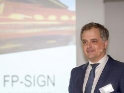 Stephan Vanberg, CEO bei FP Mentana-Claimsoft, bei der Vorstellung von FP-SIgn (Bild: FP Mentana-Claimsoft)