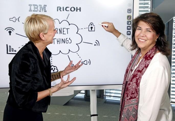 """Im """"Interactive Whiteboard"""" von Ricoh ist die intelligente Watson-Technologie von IBM integriert. (Bild: Ricoh)"""
