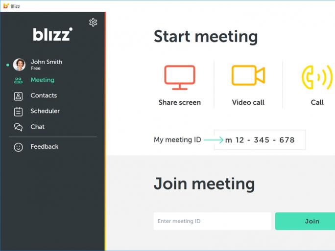 Hauptfenster von Blizz by Teamviewer (Bild: Teamviewer)
