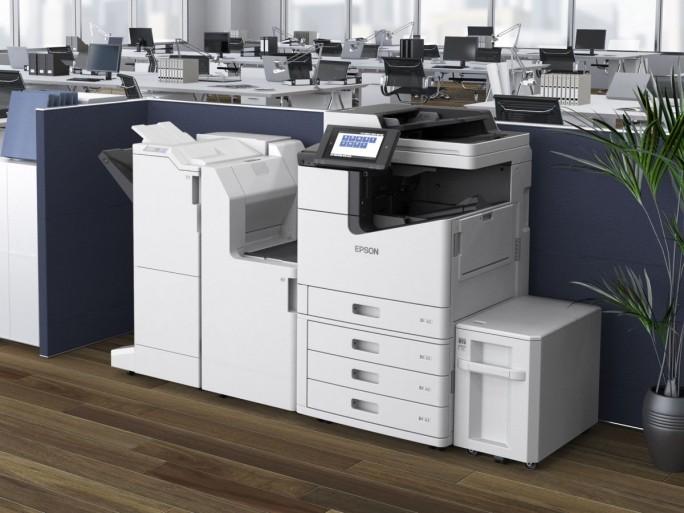 Der 100-Seiten-Tintendrucker Epson WorkForce Enterprise WF-C20590 im Vollausbau (Bild: Epson)