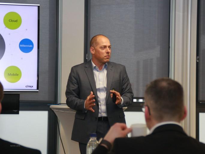 Tim Minahan, SVP und CMO von Citrix sieht für Anwender viele neue Herausforderungen von der Cloud über Mobile bis hin zum Fachkräftemangel. Jedoch biete jede Challenge auch eine Chance. (Bild: M. Schindler)