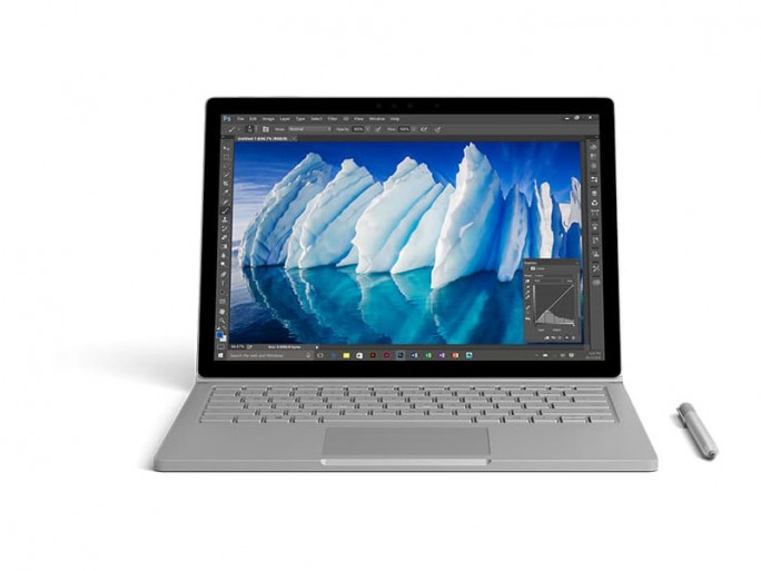 "Surface Book mit dem Tastaturdock  ""Performance Base"" (Bild: Microsoft)"