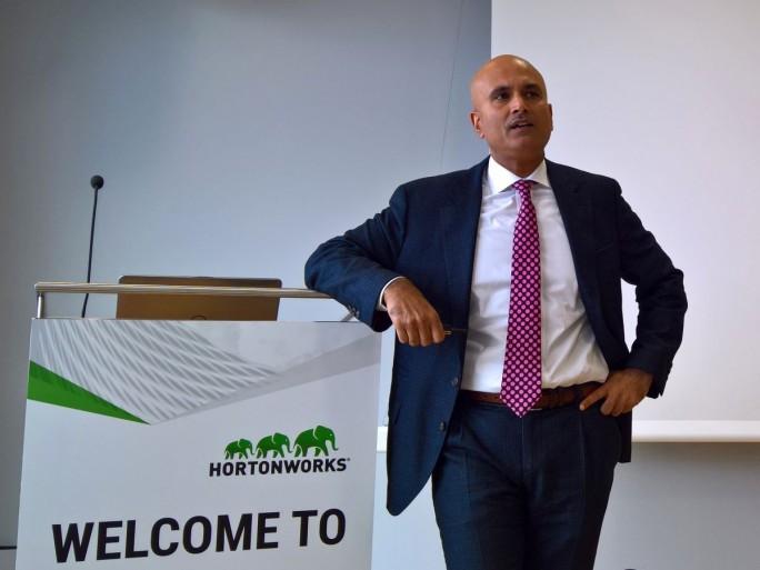 """Hortonworks-Präsident und COO Raj Verma ist überzeugt: """"90 Prozent der bestehenden Datenarchitekturen von Unternehmen werden nicht überleben."""" (Bild: Rüdiger)"""