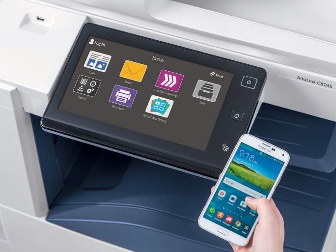 Das Bedienkonzept der neuen Xerox-Drucker (Bild: Xerox)