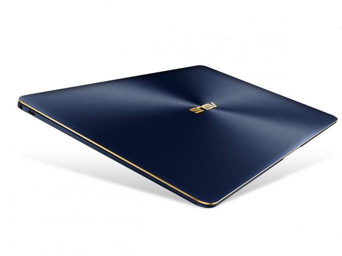 Das ZenBook 3 Deluxe (UX490) ist in Grau und Blau je nach Prozessor- und Speicherausstattung ab 1599 Euro ab sofort erhältlich (Bild: Asus)