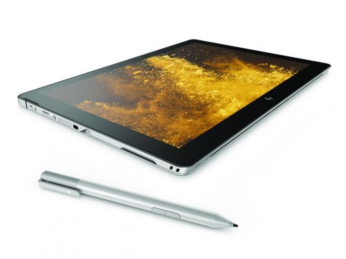 HP Elite x2 1012 G2 im Tablet-Modus mit dem zusätzlich erhältlichen HP Active Pen (Bild: HP Inc.)