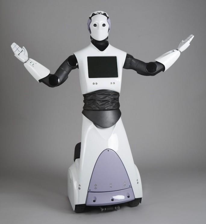 Ein Roboter der Reihe REEM des spanischen Herstellers Pal-Robotics soll in jetzt in Dubai die Polizeibeamten bei ihrer Arbeit unterstützen. (Bild: Pal-Robotics)