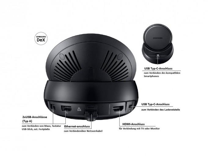 Samsung DeX ist weit mehr als nur eine Docking-Station mit verschiedenen Anschlüssen. (Bild: Samsung)