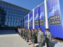 Präsentation von Truppen von NATO-Staaten anlässlich des Treffens der Staats-und Regierungschefs der NATO-Mitgliedsstaaten in Brüssel am 25. Mai 2017 (Bild: NATO)