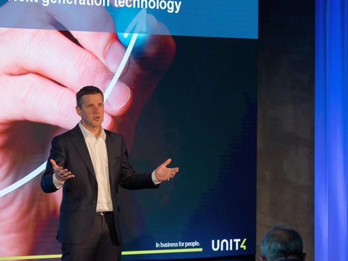 Stephan Sieber, CEO von Unit4, auf der Unit4-Konferenz Connect in Rotterdam Anfang Mai (Bild: Unit4)