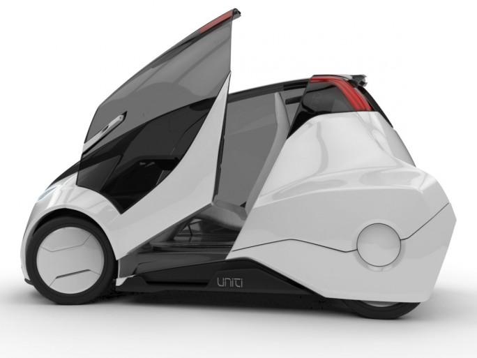 Uniti plant sein Auto mit bis zu 300 Kilometern Reichweite, es wird rund 400 Kilogramm wiegen und 200.00 schwedische Kronen – also rund 20.500 Euro – kosten. (Bild: Uniti)