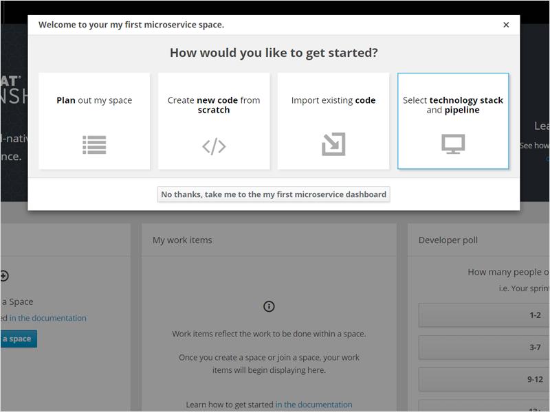 Das Starten von Micro-Services in OpenShift.io. (Bild: Red Hat)