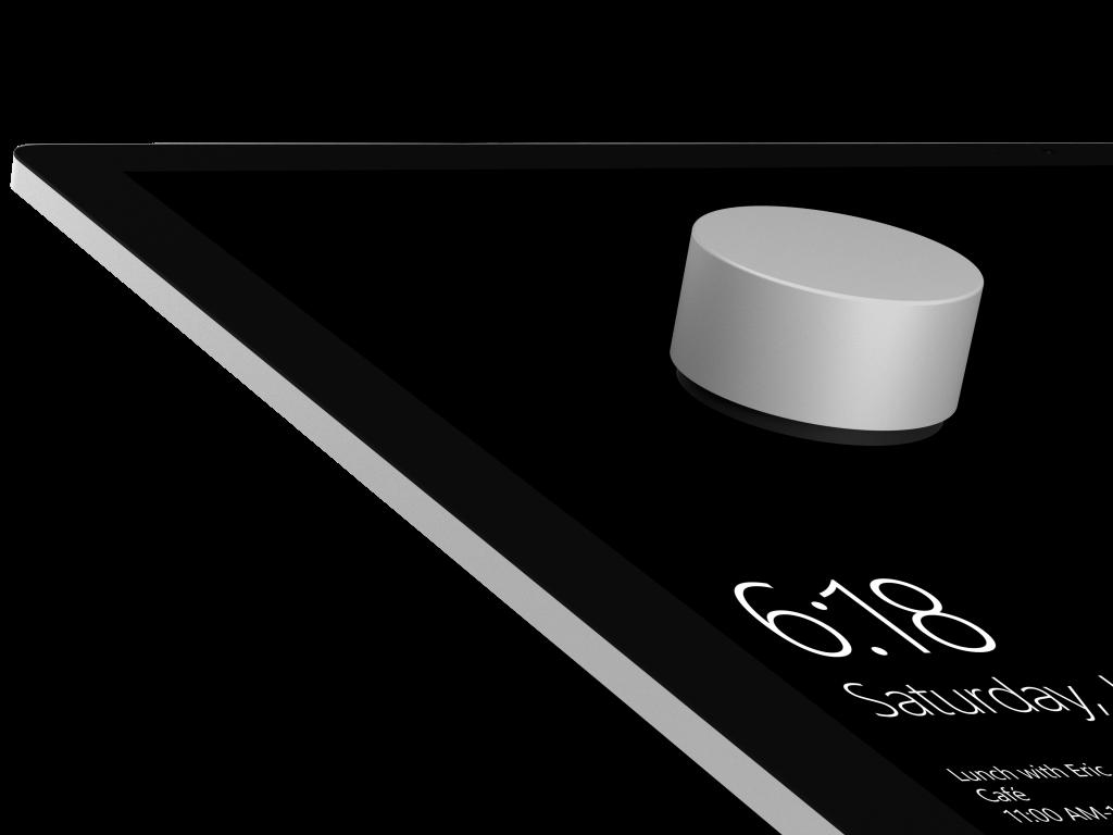 Das Surface Dial soll beim Surface Studio Vorgänge wie Zoomen und Navigieren intuitiver machen. (Bild: Microsoft)