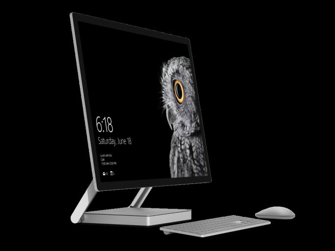 Der All-in-one-PC Surface Studio besitzt ein 28 Zoll großes Touch-Display. (Bild: Microsoft)