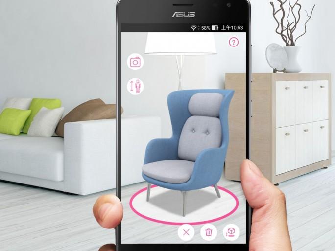 Google Tango ist auf dem Asus ZenFone AR für Augmented Reality zuständig. (Bild: Asus)