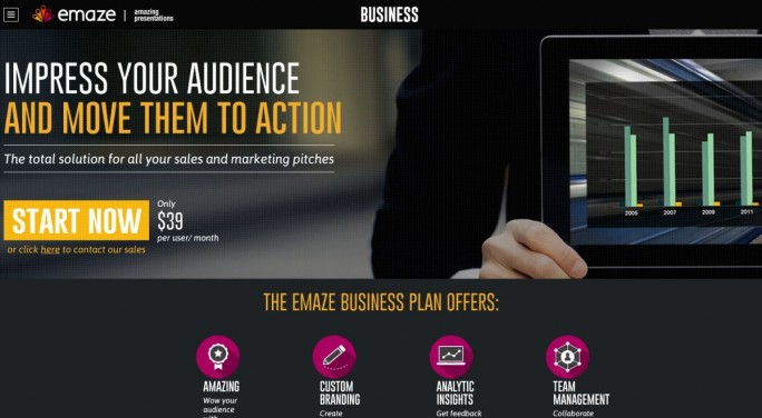 Bei Emaze werden alle Präsentationen als Video im HTML-5-Standard gespeichert. (Screenshot: Mehmet Toprak)